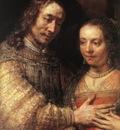 Rembrandt The Jewish Bride detail1