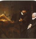 Rembrandt The Mennonite Minister Cornelis Claesz  Anslo in Conversation with his Wife Aaltje