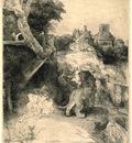St Jerome Reading in an Italian Landscape SIL