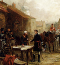 Hillingford Robert Alexander Wellington And Blucher Meeting Before The Battle Of Waterloo
