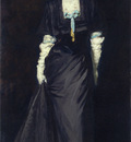 Henri Robert Jessica Penn in Black with White Plumes