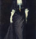Henri Robert Jessica Penn in Black with White Plumes