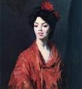 Henri Robert Spanish Woman in a Red Shawl