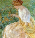 Reid Robert Lewis The Yellow Flower aka The Artist s Wife in the Garden