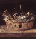 STOSKOPFF Sebastien Still Life Of Glasses In A Basket