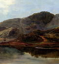 Percy Sidney Richard Landscape With A Lake And Mountains Beyond