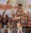 Alma Tadema The Finding of Moses detail