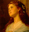 SophieAnderson Portrait Of Young GirlLarge