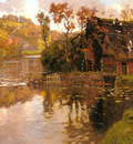 Thaulow Frits Cottage By A Stream