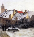 Steele Theodore Clement Winter Afternoon Old Munich