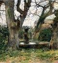 Robinson Theodore Italian Landscape with a Fountain