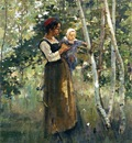Robinson Theodore Mother and Child by the Hearth