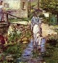 Robinson Theodore Pere Trognon and His Daughter at the Bridge