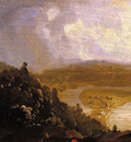 Cole Thomas Sketch for View from Mount Holyoke Northampton Massachusetts after a Thunderstorm
