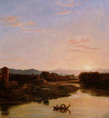 Cole Thomas Sunset of the Arno