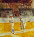 Baseball Players Practicing