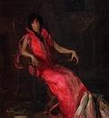 Eakins Thomas An Actress aka Portrait of Suzanne Santje