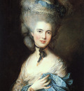 Portrait of a lady in blue EUR