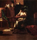 Anschutz Thomas P Woman Writing at a Table