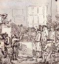 Rowlandson Thomas A Furniture Auction