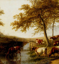 Cooper Thomas Sidney Cattle Resting By A Brook