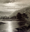 Leader Benjamin Williams Tintern Abbey Moonlight On The Wye