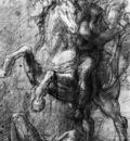 titian cavalier over a fallen adversary 1562