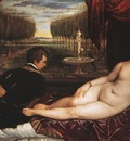 Titian Venus with Organist and Cupid