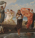 Vedder Elihu Greek Girls Bathing