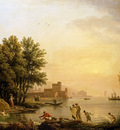 Vernet Claude Joseph Landscape With Bathers