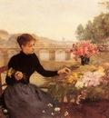 Gilbert Victor A Parisian Flower Market