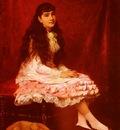 Gilbert Victor Gabriel Portrait De Jeune Fille