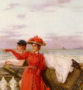 Corcos Vittorio Matteo Looking Out To Sea