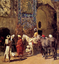 Weeks Edwin Blue Tiled Mosque At Delhi India