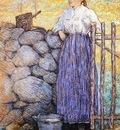 Weir Julian Alden Girl Standing by a Gate