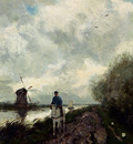 Weissenbruch Jan Hendrik On The Tow Path Along The River Amstel