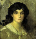 Whistler James Abott McNeill Head of a Young Woman