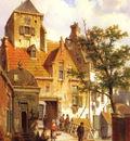 Koekkoek Willem A Street Scene In Haarlem