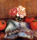 Glackens William Roses And Persimmons