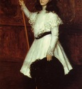 Chase William Merritt Girl in White aka Portrait of Irene Dimock