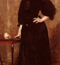 Chase William Merritt Portrait Of Mrs C
