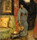 Chase William Merritt Woman in Kimono Holding a Japanese Fan