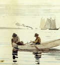 Homer Winslow Boys Fishing Gloucester Harbor