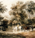 Wint Peter De Horses Drinking At A Pool