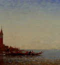 Ziem Felix Gondole Devant St Giorgio Venice