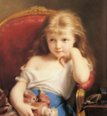 Zuber Buhler Fritz Young Girl Holding A Doll