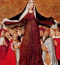 Enguerrand Quarton La vierge de misericorde de la famille Cadard 1452