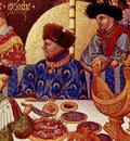 Tres Riches Heures du Duc Jean de Berry January detail with nef