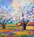 """Apple trees in bloom"" Jean Marc JANIACZYK"