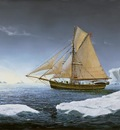 Roald Amundsen's cutter Gjøa navigating the Northwest Passage.